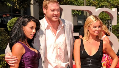 Ebenfalls dabei: Jeremy Shockey, Tight End der New Orleans Saints, in reizender weiblicher Begleitung