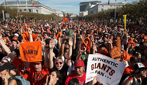 Im Jubel versunken: Die San Francisco Giants holen nach 56 Jahren den Titel der Baseball-World-Series