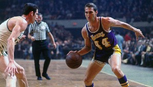 PLATZ 17: Jerry West - 25.192 Punkte in 932 Spielen - Los Angeles Lakers