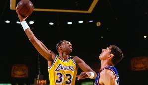 PLATZ 1: Kareem Abdul-Jabbar (1969-1989) - 38.387 Punkte in 1560 Spielen - Milwaukee Bucks, Los Angeles Lakers