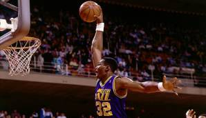 PLATZ 2: Karl Malone (1985-2004) - 36.928 Punkte in 1476 Spielen - Utah Jazz, Los Angeles Lakers