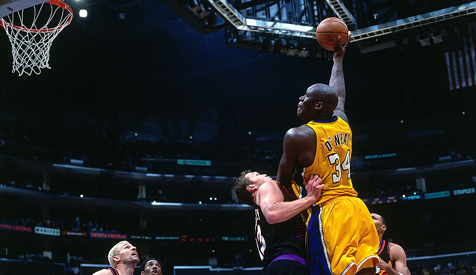 PLATZ 8: Shaquille O'Neal (1992-2011) - 28.596 Punkte in 1.207 Spielen - Orlando Magic, L.A. Lakers, Miami Heat, Phoenix Suns, Cleveland Cavaliers, Boston Celtics