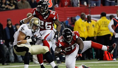 Atlanta Falcons - New Orleans Saints 14:17: Rookie Jimmy Graham fing den entscheidenden Touchdown zum Sieg der Saints
