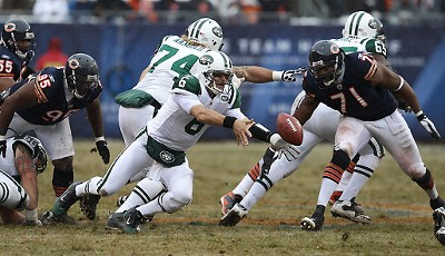 Chicago Bears - New York Jets 38:34: Mark Sanchez und die Jets verloren einen wilden Shootout - aber die Playoffs haben sie trotzdem erreicht