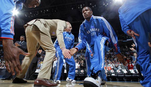 Die Western Conference wird angeführt von Kevin Durant: Small Forward / Shooting Guard, Oklahoma City Thunder (zweites Allstar-Game)