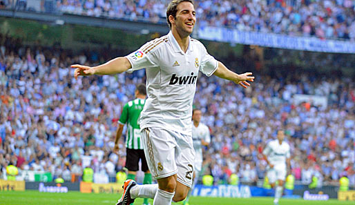Rang 4: Gonzalo Higuain von Real Madrid (22 Tore)