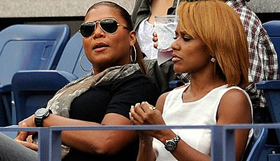 What you lookin' at? Queen Latifah (l.) war wohl mit Abstand die coolste Sau im Arthur Ashe Stadium