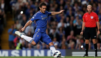 Rang 7: Frank Lampard vom FC Chelsea (15 Tore)