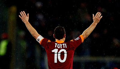 Rang 12: Francesco Totti vom AS Rom (12 Tore)