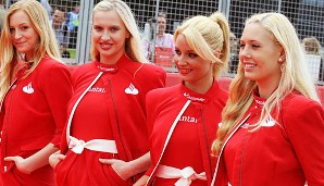 God save the grid girls! Schöne Aussicht beim Großbritannien-GP in Silverstone