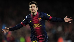 Rang 3: Lionel Messi vom FC Barcelona (8 Tore)