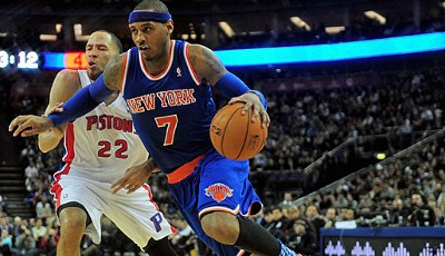 Power Forward: Carmelo Anthony (New York Knicks, 1.460.950 Stimmen, sechs Nominierungen)