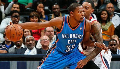Small Forward: Kevin Durant (Oklahoma City Thunder, 1.504.047 Stimmen, vier Nominierungen)