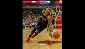 Point Guard: Derrick Rose (15,4 Punkte, 4,4 Assists)