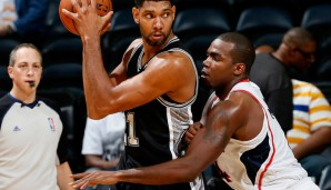 Power Forward: Tim Duncan (17,8 Punkte und 9,9 Rebounds)