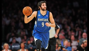 Point Guard: Ricky Rubio (8,4 Punkte, 8,4 Assists, 2,9 Steals)