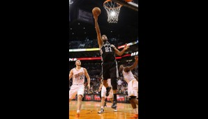 Center: Tim Duncan (14,5 Punkte, 9,7 Rebounds)