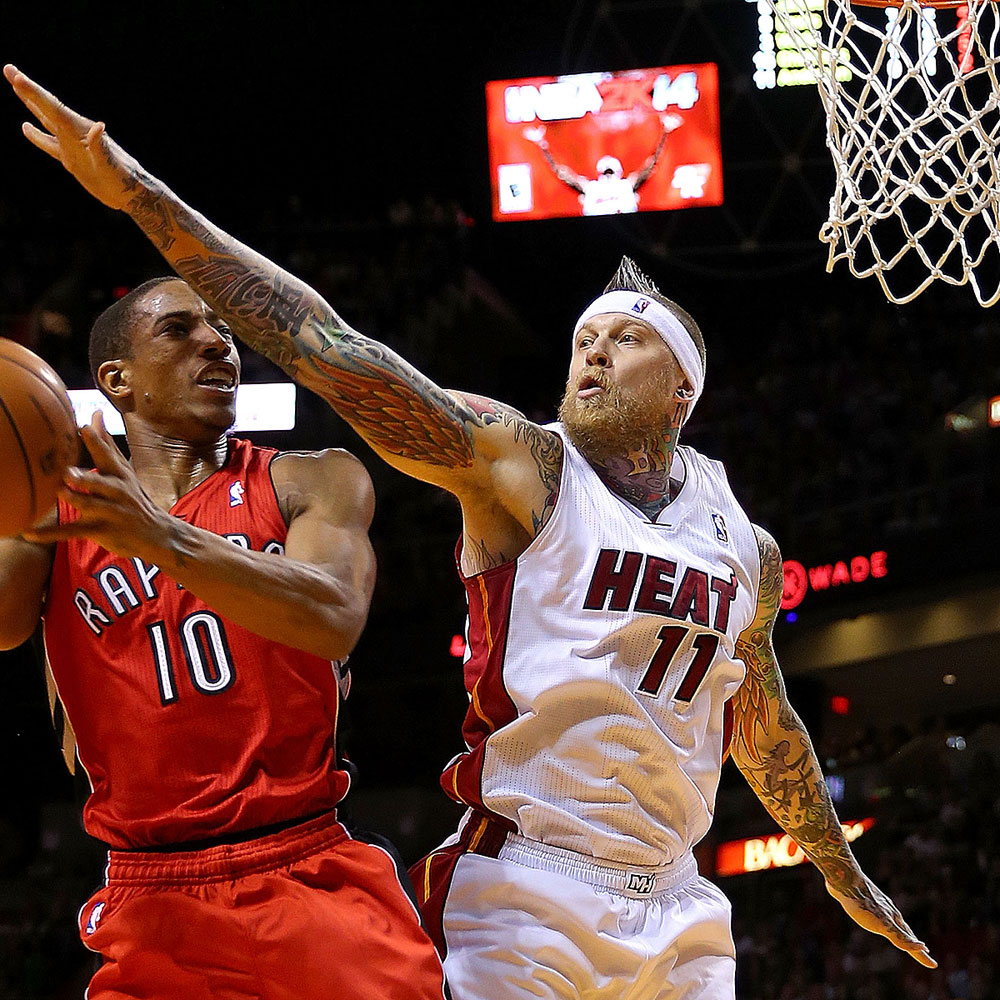 "Chris ""Birdman"" Andersen (Center, 4,5 Punkte, 65 Prozent FG)"