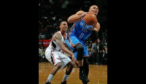 Point Guard: Russel Westbrook (21,3 Punkte, 7,0 Assists, 6,0 Rebounds, 1,8 Steals)