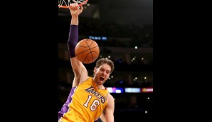 Pau Gasol (verletzt, Center, 17,0 Punkte, 3,4 Assists, 10,2 Rebounds)
