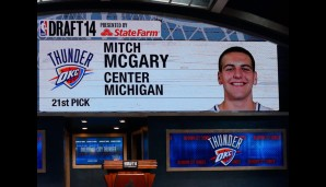 21. Pick: Mitch McGary (Oklahoma City Thunder)