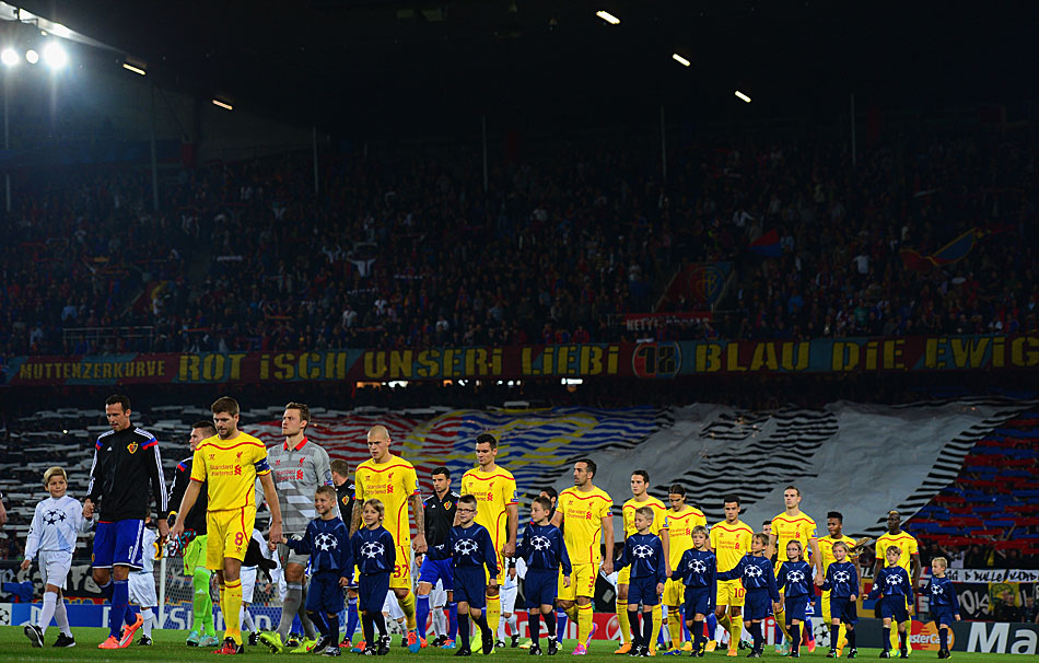 FC BASEL - FC LIVERPOOL 1:0: Schöner Anblick im St. Jakob-Park bei Liverpools Auswärts-Premiere in Basel