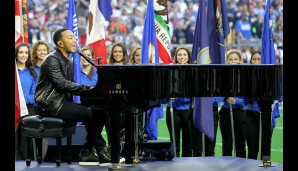 """O beautiful, for patriot dream that sees beyond the years..."" - John Legend gibt ""America the Beautiful"" zum Besten"