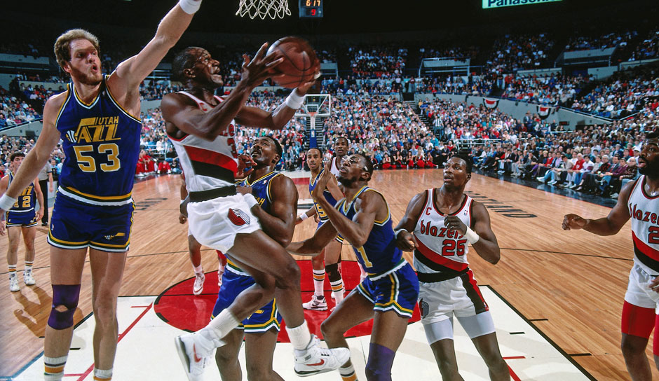 Platz 15: Clyde Drexler - 25 Triple-Doubles in 1.086 Spielen - Trail Blazers, Rockets