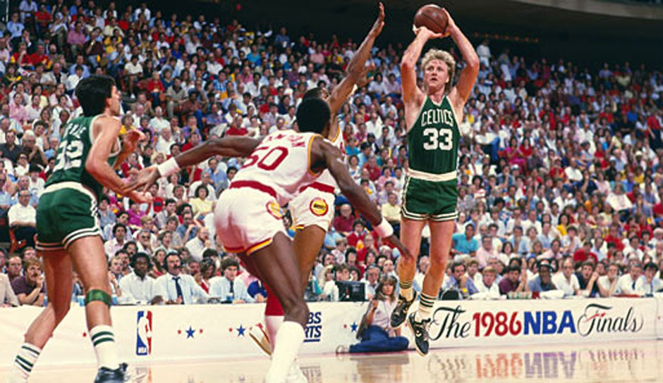 Platz 5: Larry Bird - 59 Triple-Doubles in 897 Spielen - Celtics