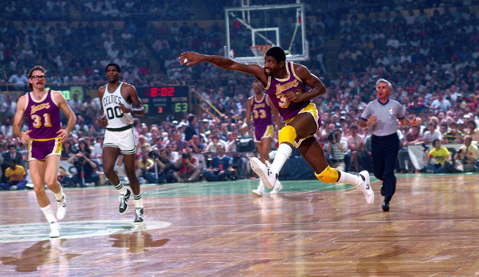 Platz 2: Magic Johnson - 138 Triple-Doubles in 906 Spielen - Lakers