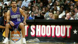 Platz 14: Peja Stojakovic - 1.760 Dreier in 804 Spielen - Kings, Pacers, Hornets, Raptors, Mavericks