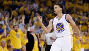 Platz 10: Stephen Curry - 1.833 Dreier in 556 Spielen (Stand: 05.03.2017) - Warriors