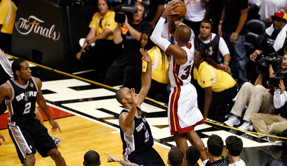 Platz 1: Ray Allen - 2.973 Dreier in 1.300 Spielen - Bucks, SuperSonics, Celtics, Heat