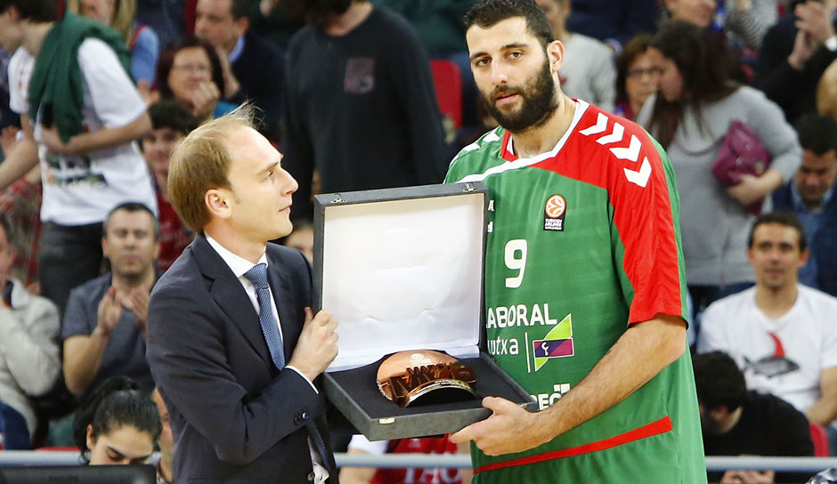 Ioannis Boroussis (Laboral Kutxa): 14,6 Punkte, 8,9 Rebounds, 2,3 Assists