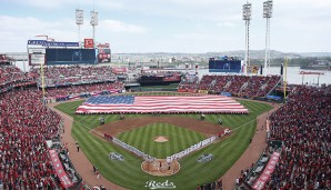 Great American Ball Park in Cincinnati: Direkt am Rande des Ohio Rivers spielen die Cincinnati Reds. Und dank der Bauweise des Parks fliegen die Bälle hier förmlich aus dem Stadion