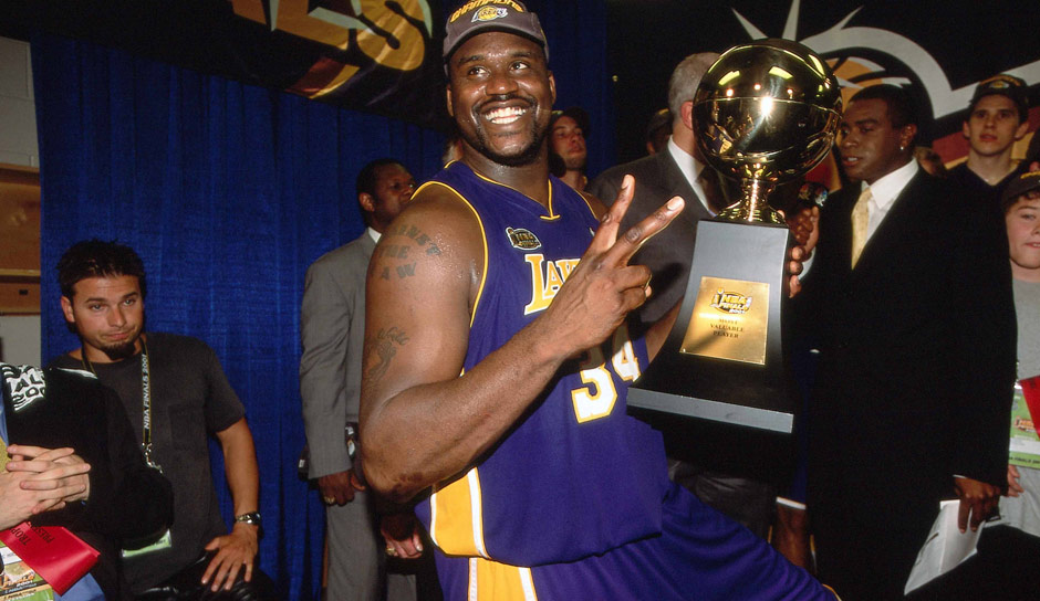 PLATZ 4: Shaquille O'Neal - 28.83 Punkte in 30 Spielen - Los Angeles Lakers, Miami Heat