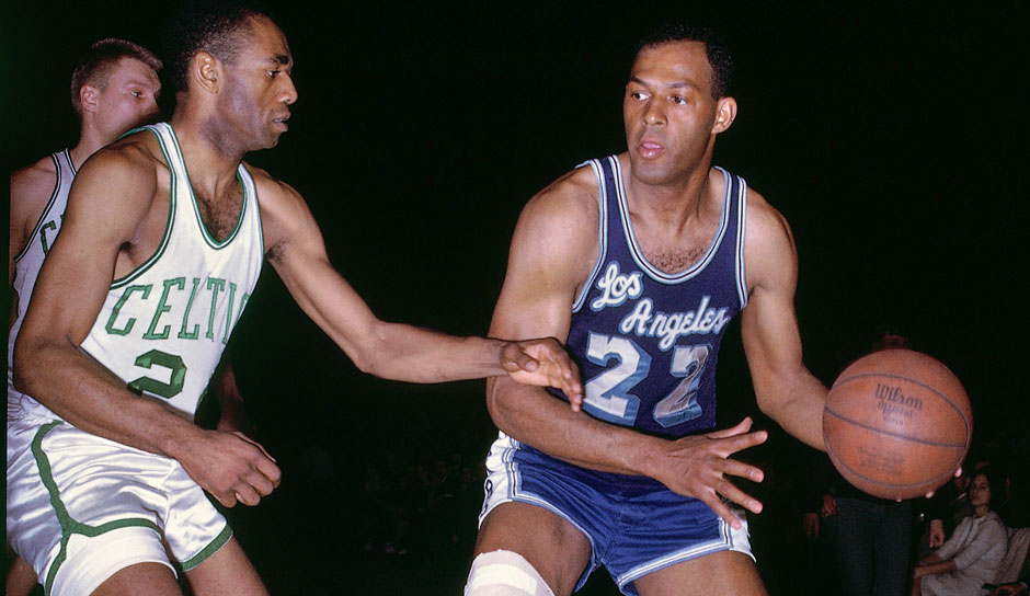 Platz 3 - 10 Teilnahmen: Elgin Baylor (Minneapolis / Los Angeles Lakers)