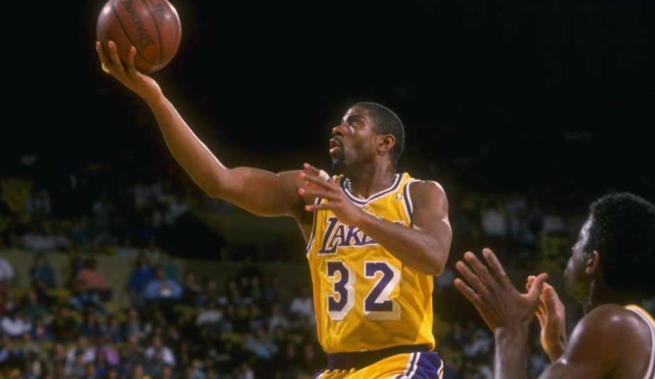 Platz 11 - 9 Teilnahmen: Magic Johnson (Los Angeles Lakers)