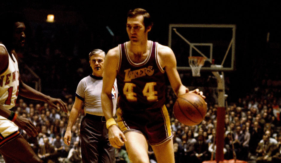 Platz 3 - 10 Teilnahmen: Jerry West (Los Angeles Lakers)