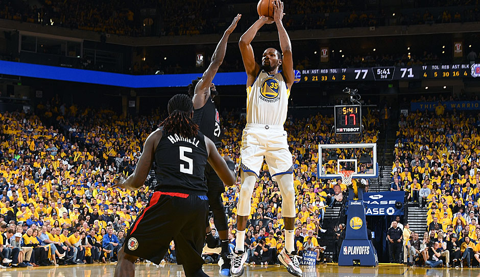 Platz 15: Kevin Durant - 204 Dreier in 101 Spielen - Oklahoma City Thunder, Golden State Warriors (Stand: 23. Mai 2017)