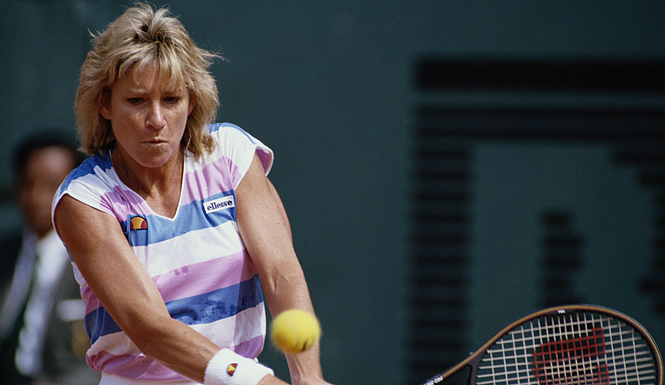 Platz 5 u.a.: Chris Evert (USA) mit 18 Grand-Slam-Titeln (2x Australian Open, 7x French Open, 3x Wimbledon, 6x US Open)