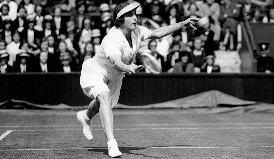 Platz 4: Helen Wills Moody (USA) mit 19 Grand-Slam-Titeln (4x French Open, 8x Wimbledon, 7x US Open)