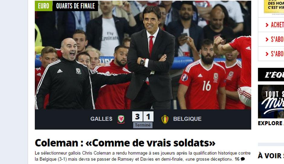 Wales Belgien Pressestimmen