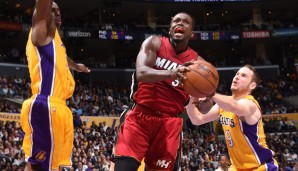 SF: Luol Deng, Saison 2015/16 bei den Miami Heat: 13,3 Punkte, 5,9 Rebounds, 1,6 Assists