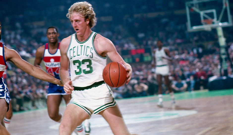 Larry Bird (Boston Celtics 1979-1992): 13 Saisons. Erfolge: 3x NBA-Champion (1981, 1984, 1986), 2x Finals MVP (1984, 1986), 3x MVP (1984-1986), 12x All-Star (1980-1988, 1990-1992)