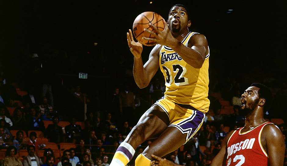 Magic Johnson (Los Angeles Lakers 1979-1991, 1996): 13 Saisons. Erfolge: 5x NBA-Champion (1980, 1982, 1985, 1987, 1988), 3x Finals-MVP (1980, 1982, 1987), 3x MVP (1987, 1989, 1990), 12x All-Star (1980, 1982-1992)