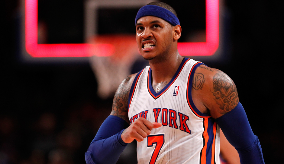 Platz 5: Carmelo Anthony (New York Knicks), 8,33 Millionen Follower (bei Twitter seit Mai 2009)