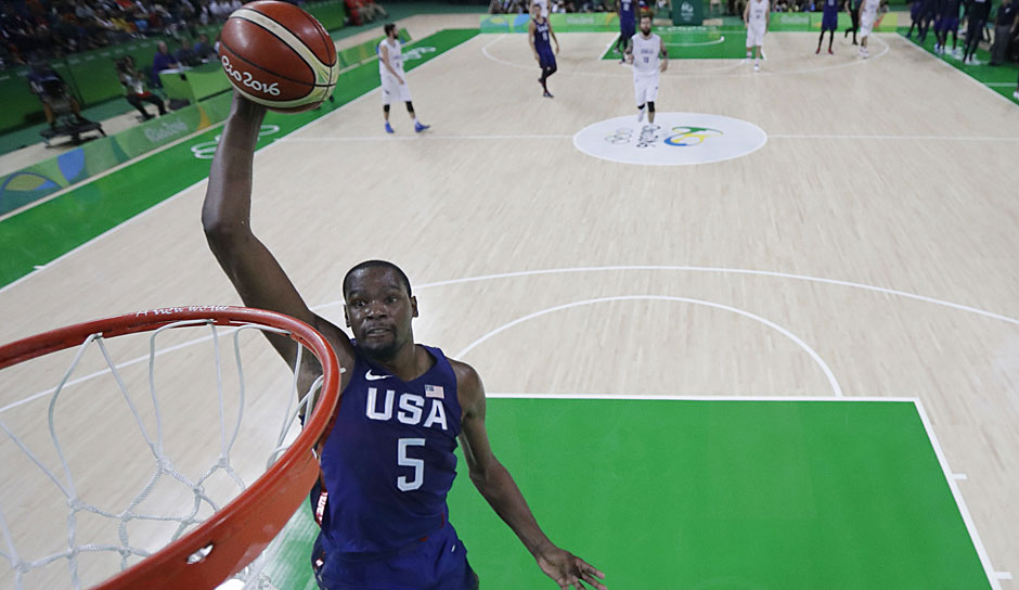 SF: Kevin Durant (USA, Golden State Warriors): 19,4 Punkte, 57,8 Prozent FG, 58,1 Prozent 3FG