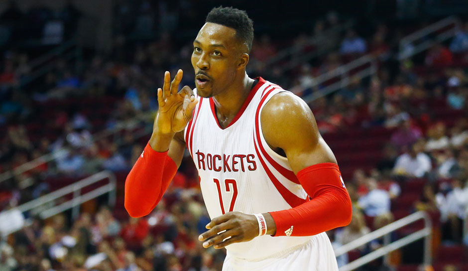 C: Dwight Howard, Saison 2015/16 (Houston Rockets): 13,7 Punkte, 11,8 Rebounds