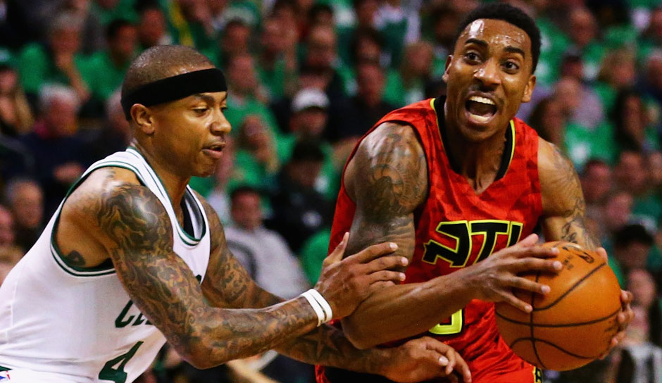 Starting Five: PG: Jeff Teague, Saison 2015/16 in Atlanta: 15,7 Punkte, 5,9 Asssists, 1,2 Steals